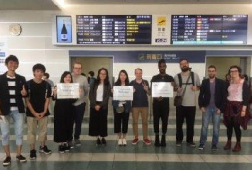 短期留学生の空港出迎え